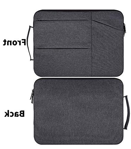 15.6 Water Resistant Laptop Briefcase Bag with Acer Aspire VivoBook, Toshiba, Lenovo, Protective Carrying Grey