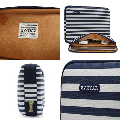 "Kayond Water Resistant Canvas 13"" Laptop Sleeve Pocket 13.3"""
