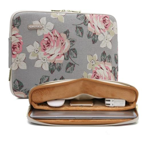 water resistant canvas 17 inch laptop sleeve