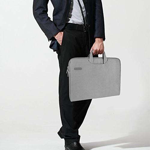 Arvok Inch Water-resistant Laptop & Zipper Case/Ultrabook Briefcase Carrying Bag/Pouch Skin Acer/Asus/Dell/HP,Gray