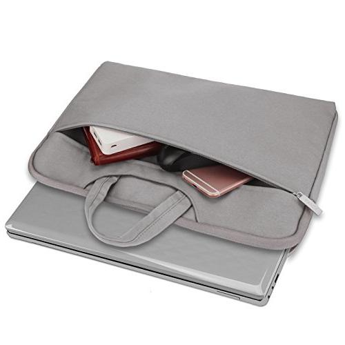 Arvok 16 17 17.3 Inch Canvas Laptop & Case/Ultrabook Bag/Pouch Acer/Asus/Dell/HP,Gray