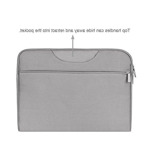 Arvok 16 17.3 Inch Water-resistant Canvas Fabric Laptop Sleeve & Zipper Computer Case/Ultrabook Tablet Briefcase Bag/Pouch Cover Acer/Asus/Dell/HP,Gray
