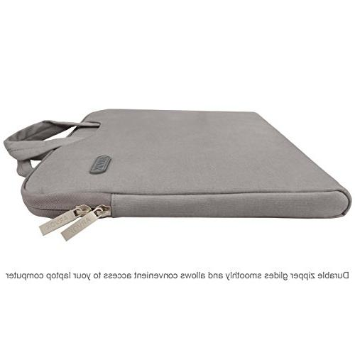 Arvok 16 17 17.3 Inch Laptop With & Case/Ultrabook Bag/Pouch For Acer/Asus/Dell/HP,Gray