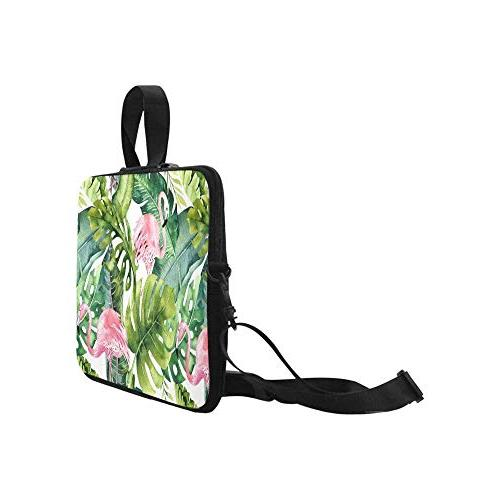 InterestPrint Flamingo and Greenery Leave Laptop Shoulder with Strap, Notebook Computer 17 17.3 MacBook HP Woman