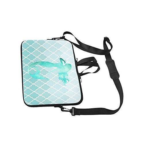 InterestPrint Watercolor with Moroccan Waterproof 15 15.6 Inch Shoulder Bag with Handle & HP Thinkpad Tablet Woman