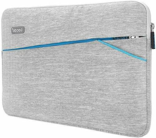 Lacdo Waterproof Fabric Sleeve Bag Compatible New MacBook Inch/MacBook Air Surface Pro Surface Pro 5, 3 Asus Dell HP Acer Chromebook Tablet Case, Gray