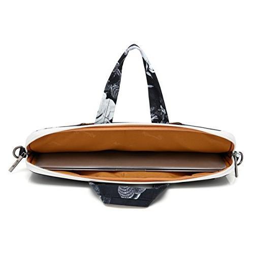 Canvaslife White Flower Waterproof Shoulder Bag Sleeve for 11 Inch 12 13 Macbook Air /12/