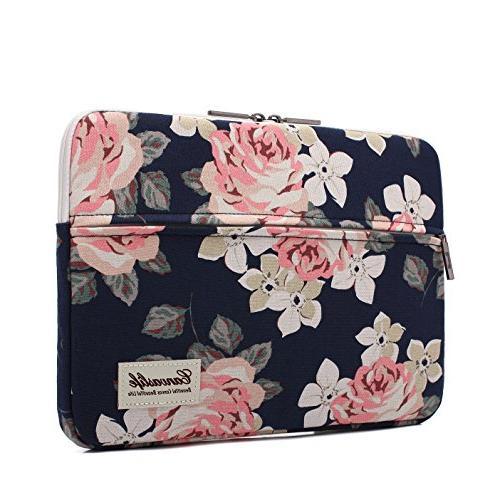 white rose pattern canvas laptop
