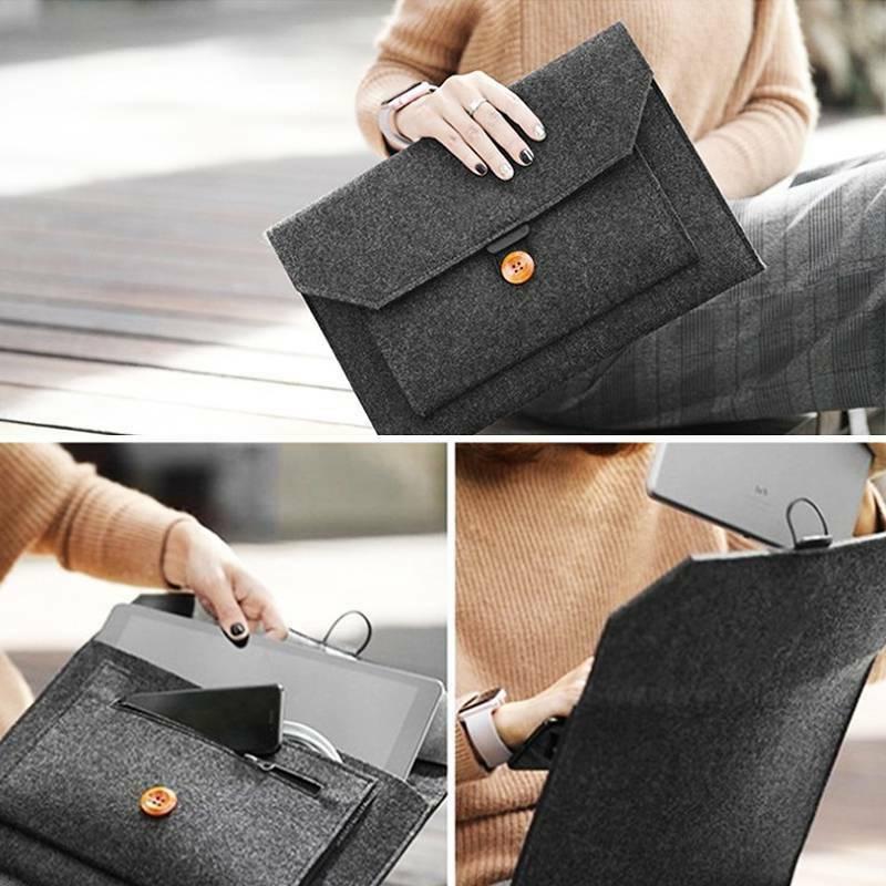 "Wool Envelope Laptop Bag MacBook Pro 11/13/15"""