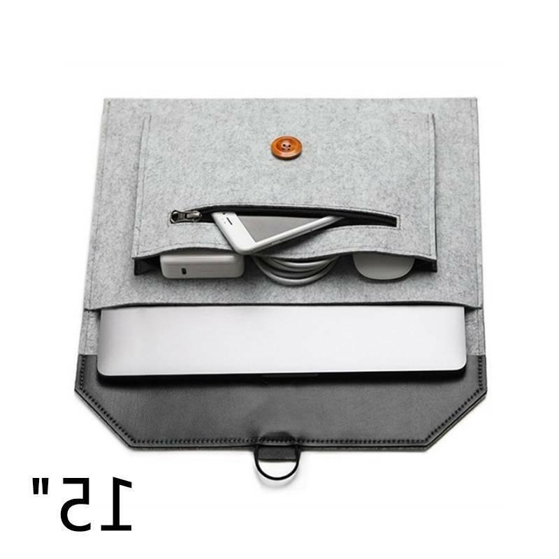 """Wool Felt Envelope Laptop Case Bag For MacBook 11/13/15"""""""
