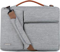 Lacdo 15.6 Inch Laptop Messenger Shoulder Bag, 360° Protect