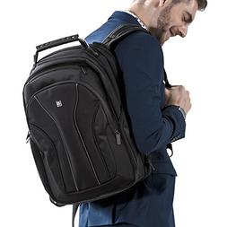 LEVEL8 15.6 Inch Water Resistant Laptop Backpack for men/mac