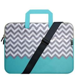 "Laptop Case 17.3"" HESTECH Shoulder Bag Chevron Compatible 17"