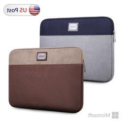 "Laptop Case Sleeve Grey Bag For 10"" 12.3"" 13.5"" 15"" Microsof"