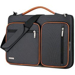 Lacdo 15- 15.6 Inch Laptop Shoulder Bag, 360° Protective La