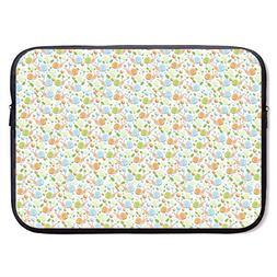 CHJOO Laptop Sleeve Bag Cute Snails Pattern Logo 13/15 Inch