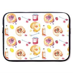 CHJOO Laptop Sleeve Bag Strawberry Jam Bread Graphics 13/15