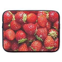 CHJOO Laptop Sleeve Bag Strawberry Nice Pattern 13/15 Inch B