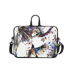 Laptop Sleeve Case 15 15.2 Inch Lily Flowers And Birds Resis