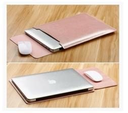 Laptop Sleeve Case Cover Bag for MacBook Air Mouse Pad PU Le