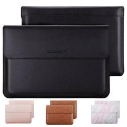 "MoKo 11"" 12.9"" 13.5 Laptop Sleeve Bag PU Leather Protective"