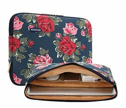 KAYOND Laptop Sleeve Notebook Case Bag- Canvas Water-Resista