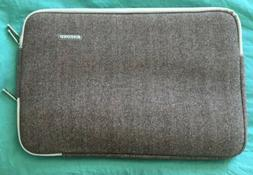 Kayond Laptop Sleeve Notebook Case Herringbone Brown 15-15.6