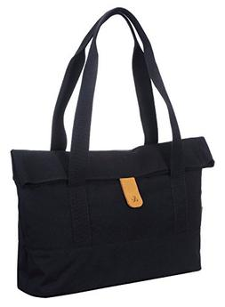 Laptop Macbook Foldover Tote Bag, AMBER & ASH Water Resistan