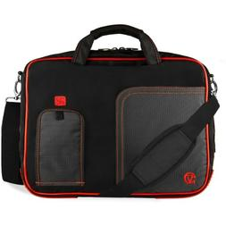VanGoddy Red Trim Laptop Bag for Dell Latitude/Inspiron/Prec