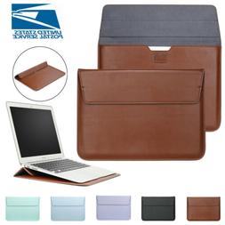 Leather Laptop Sleeve Bag Pouch Case Cover For MacBook Air 1