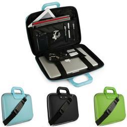 SumacLife Leather Laptop Sleeve Case Shoulder Messenger Bag