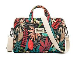 leaves laptop shoulder bag