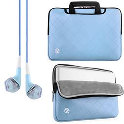 Vangoddy PU Leather Light Blue Gummy Sleeve Carrying Case fo