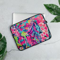 Lilly Pulitzer Pattern Laptop Case Sleeve - Gumbo Limbo Flor