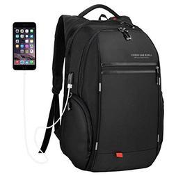 LUXUR Nylon Waterproof Laptop Backpack Casual School Busines