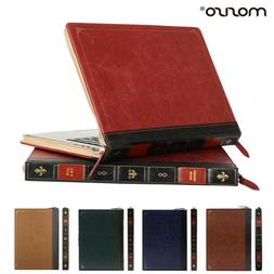 Mosiso Vintage Book Zipper Sleeve Case for Macbook Air 13 Pr