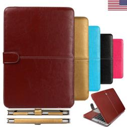 For Macbook Air Retina Pro 11''13''15''Leather Laptop Case F