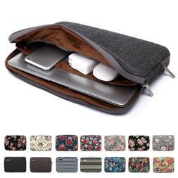 Man Laptop Sleeve Canvas Casual Bags Cover Zipper Liner For