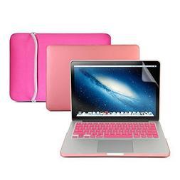 GMYLE 4 in 1 Bundle Summer Hot Pink Set Matte Plastic Hard C
