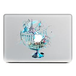 GTNINE MacBook Stickers Watercolor Coverall Globe Sticker Ma