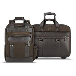 Solo Macdougal Rolling Laptop Case and Backpack Bundle, Espr