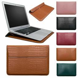 Magnetic Leather Sleeve Bag Case For MacBook 11 12 13 15'' i