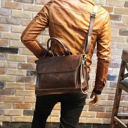 Men Portfolio Business Case PU Leather Briefcase Laptop Shou