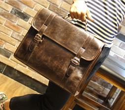 Men's Business Case Briefcase PU Leather Shoulder Suitcase M