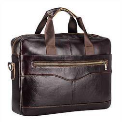 Men's Genuine Leather Briefcase Laptop Bag Messenger Shou