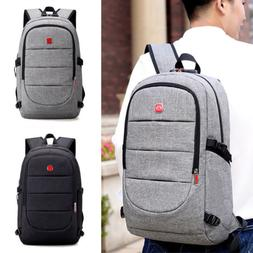 Mens Anti-theft Laptop Backpack Shoulder Bags with USB Charg