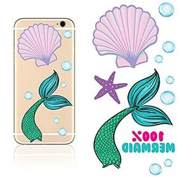 iDecoz Mermaid Reusable Vinyl Decal Stickers for all Cell Ph