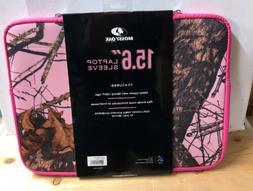 "Mossy Oak MossyOak Camo 15.6"" Laptop Cover Sleeve Pink Prote"