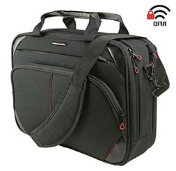 multicompartment laptop messenger bag canvas
