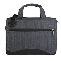VanGoddy Wave Slim Charcoal Anti Theft Messenger Bag for Del